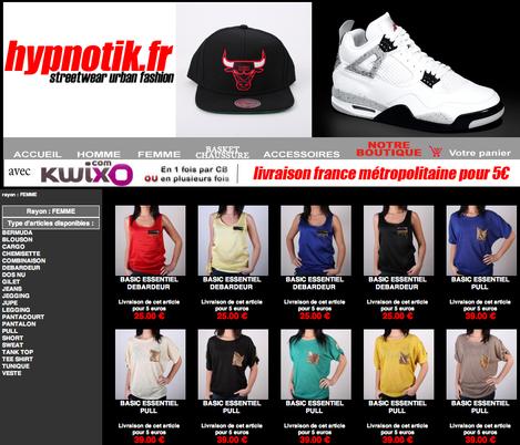Site web d'e-commerce lié à Quoram