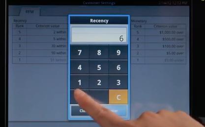 Interface tactile de la Casio Android