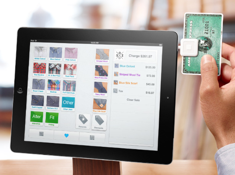 Square wallet sur ipad