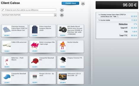 shopApplication: logiciel de caisse et e-commerce