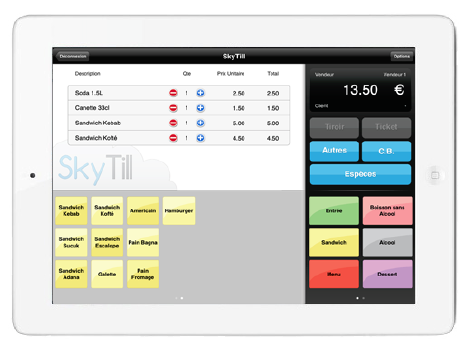 SkyTill (ex MyTill) pour iPad