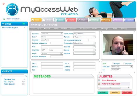 myAccessWeb: fiche client