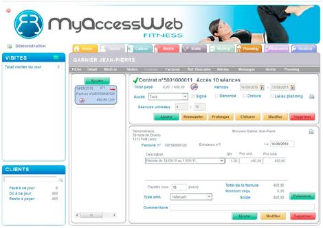 myAccessWeb: contrat et accès aux séances