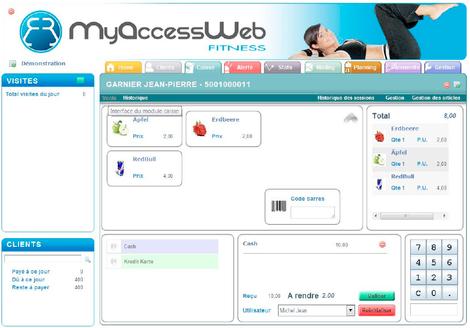myAccessWeb: écran de caisse