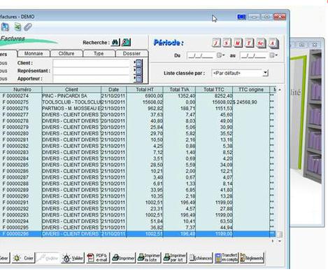 Memsoft TPV Oxygène: factures