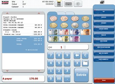 TP.Net: le logiciel de caisse de Windor Nixdorf