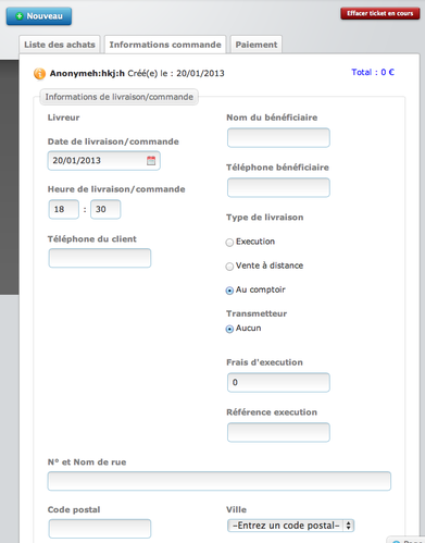 eCaisse: logiciel de caisse en ligne
