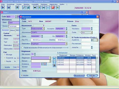 GesFit, logiciel de gestion de salle de sport
