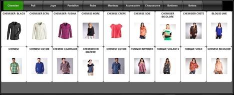 Exemple d'écran de caisse de Gestmag 2013