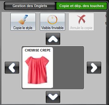 Déplacement des boutons sur l'écran de caisse