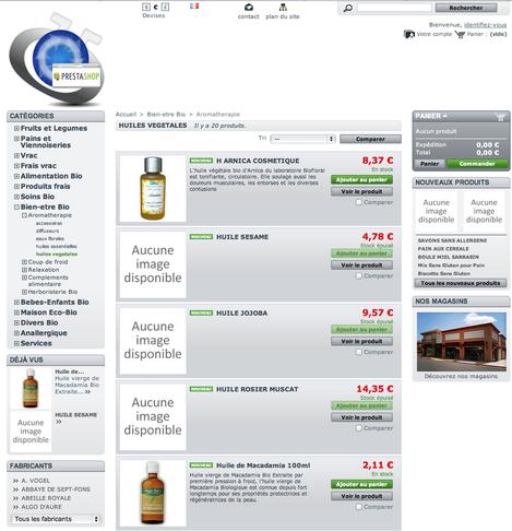 Site web d'e-commerce communiquant avec le logiciel de caisse Artifact
