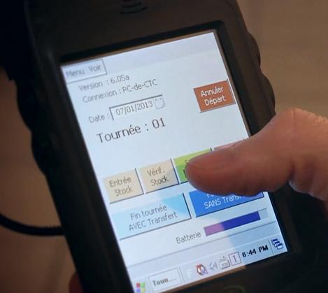logiciel de caisse CTC Boulangerie sur mobile