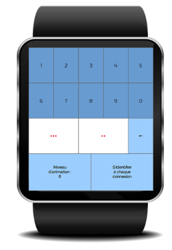 Logiciel de caisse melkal sur une montre connect�e