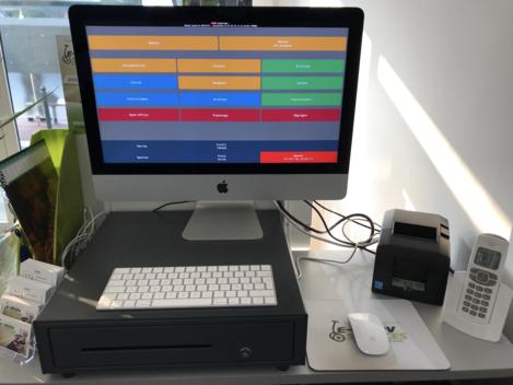 Logiciel de caisse Melkal sur iMac