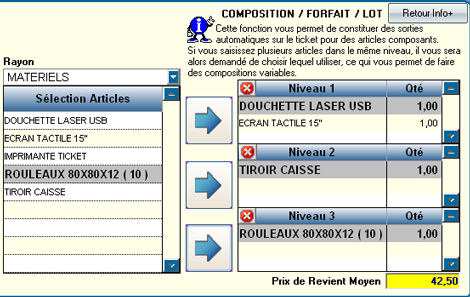 A2GI-Caisse * : Gestion des nomenclatures, lots, et compositions variables ! (11)