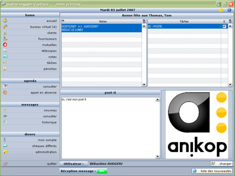 Anikop Gestion Magasin d'Optique *
