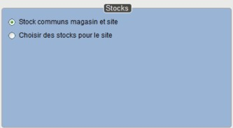 Réglage du stock e-commerce