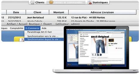 Synchronisation avec le site web d'e-commerce