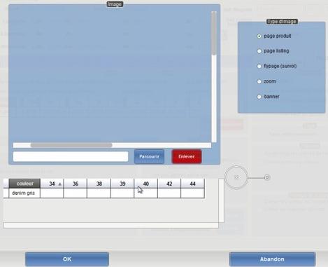 Artifact: plusieurs types d'image peuvent être envoyés sur le site d'e-commerce