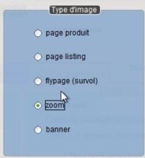 Le logiciel de caisse Artifact peut envoyer plusieurs types d'image sur le site web d'e-commerce