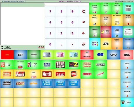 atthis: écran de caisse