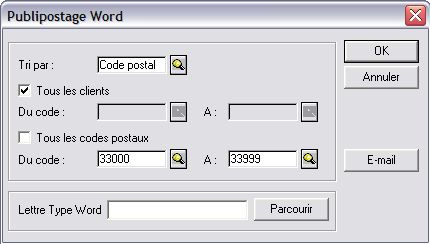 publipostage word dans ciel point de vente
