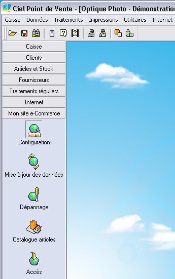 Configuration du site web marchand (e-commerce) de Ciel Point de Vente