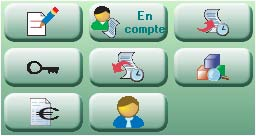 EBP Point de vente: boutons de l'écran de vente