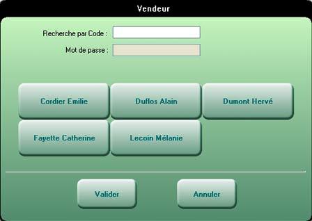 logiciel de caisse EBP Point de vente: les vendeurs