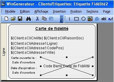 logiciel de caisse EBP Point de Vente: Wingenerateur pour la carte de fidélité