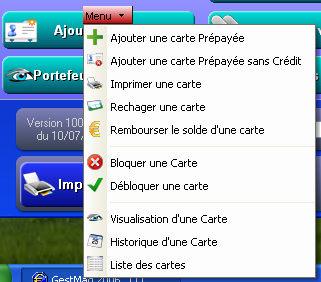 logiciel de caisse gestmag 2006 42: cartes prépayées