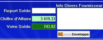 logiciel de caisse gestmag 2006 42: les enveloppes