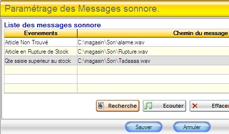 Gestmag : Message sonore personnalisable d�s la d�tection d'un probl�me en caisse (35)