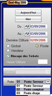 gestmag 2006: clôture de chaque caisse d'un réseau