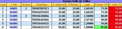 logiciel de caisse gestmag 2006: les prix d'une fiche article
