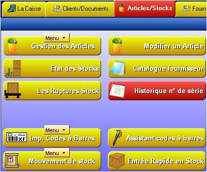 logiciel de caisse gestmag: gestion de stock