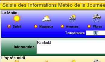 logiciel de caisse gestmag 2006: la saisie de la météo
