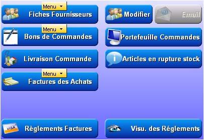 logiciel de caisse gestmag multi-sites: menu fournisseur