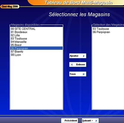 logiciel de caisse gestmag multi-sites: tableau de bord