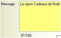 logiciel de caisse gestmag 2005: la rédaction du message