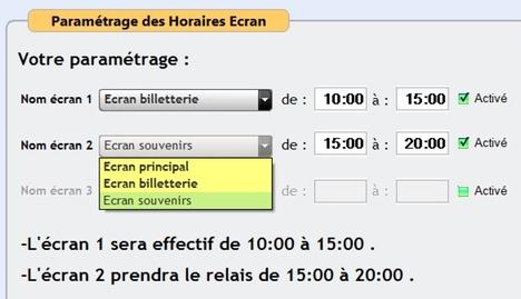 Basculement automatique d'écran en fonction de l'heure