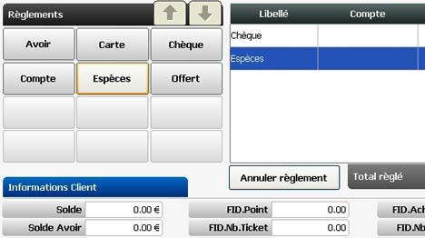globalpos retail: paiement d'un ticket de caisse