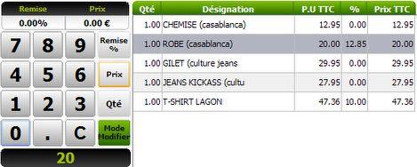 Globalpos retail: remise sur ticket de caisse