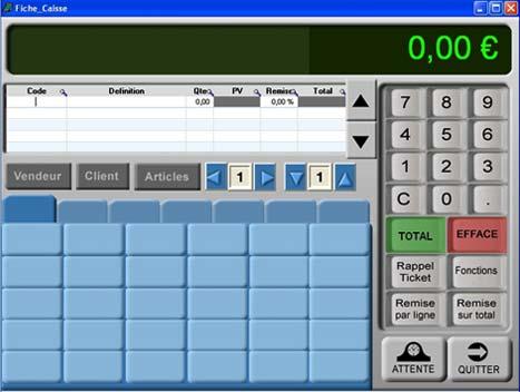 logiciel de caisse gosshop: écran de vente