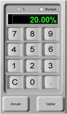 logiciel de caisse gosshop: remise en caisse