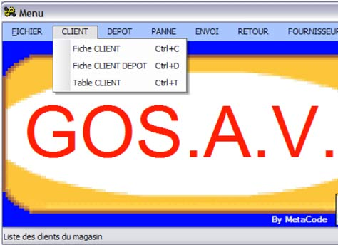 GoS.A.V. : S.A.V. - Identification d'un article en caisse  - Affectation d'un article à un bouton tactile