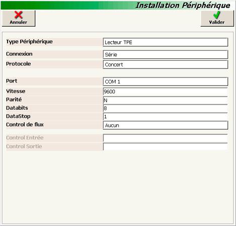 Paramétrage du TPE dans InnoPos