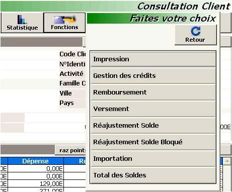 logiciel de caisse innopos: les fonctions de la fiche client