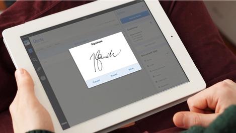 signature sur l'iPad