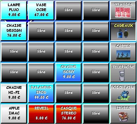logiciel de caisse tactile ED2004: écran de vente